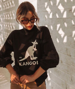 Kangol x H&M Mabel Black Kangaroo Logo Oversized Knitted Jumper - Small