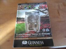 GAA 2003 All Ireland Senior Hurling Final Programme