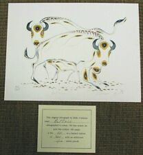 EDDY COBINESS Limited Edition Lithograph Art BUFFALO 60/400 Signed NEW V51C