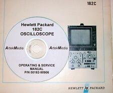 HP Hewlett Packard 182C Oscilloscope, Operating & Service Manual