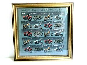 American Motorcycles 39 Cent 20 Stamps 2005 Harley-Davidson Nicely Framed
