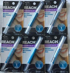 6 Packs  Reach Essentials Instant Teeth Whitening Pen