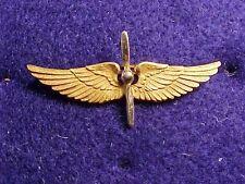 ORIGINAL RARE WWI 14K GOLD USAS PILOT WING AND PROP CAP / COLLAR INSIGNIA