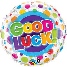 "18"" Good Luck Multi Dots Foil Helium Fill Qualatex Balloon Supplied Flat 2x"