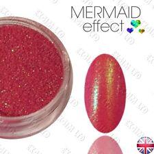 Colores Rojo Sirena Efecto Uñas Arte Polvo Gel híbrido brillo acrílico