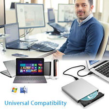 External USB 2.0 DVD CD-RW Drive Writer Masterizzatore DVD Player per MAC Air /