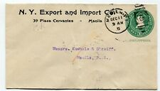 Philippines old postal stationery locally used Manila s/scan