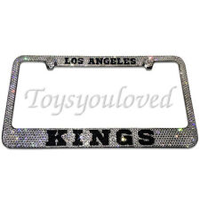 Los Angeles KINGS Crystal Bling License Plate Frame made with Swarovski Elements