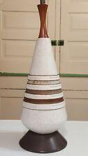 Mid-Century Modern Table Lamp Art Pottery Vintage Atomic MCM