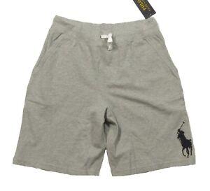 Polo Ralph Lauren Boys Gray Heather Big Pony Drawstring Shorts