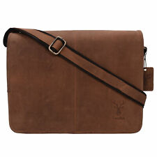 Genuine Leather Portfolio Messenger Shoulder Bag Brief Case 18MB203RD