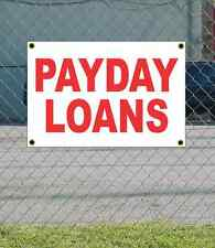 2x3 PAYDAY LOANS Red & White Banner Sign NEW Discount Size & Price FREE SHIP