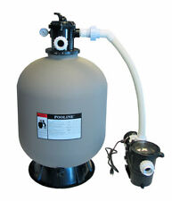 """In-Ground Swimming Pool 24"""" Sand Filter System with 2 Speed 1 HP Pump"""