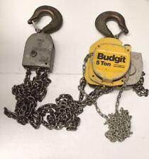 Budgit Lift Tech 5 Tonnen Manuell Kettenflaschenzug 3M Kette Länge