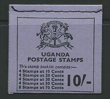 UGANDA SGSB7 1971 10/- BOOKLET (FLOWERS)  MNH