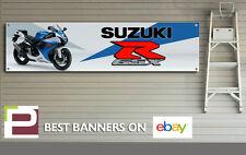 SUZUKI GSXR 750 Banner per officina, garage, Pit Lane, L'UOMO grotta, grandi dimensioni
