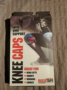 Rock tape knee caps new XS xsmall red 7mm one pair work out crossfit vmo support
