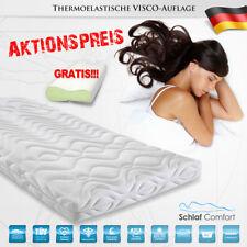 Viscoelastische Matratzenauflage Topper/Auflage 150x200x7cm +Visco Kissen Gratis