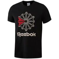 Reebok Men's Big Starcrest Logo T-Shirt (Black) BQ3505