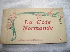 Normande postcard collection 24 cards book 21