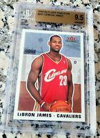 LEBRON JAMES 2003 Fleer #1 Draft Pick Rookie Card RC Cavaliers BGS 9.5 x 4 MVP $