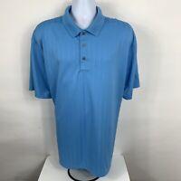 PGA Tour Polo Shirt Mens Size XXL 2XL Blue Short Sleeve Casual Golf Rugby