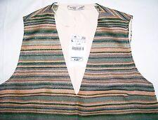 Zara W&B Jacquard Pattern Top orange metallic striped front Size L New tags BNWT