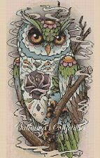 Counted Cross Stitch COLOURFUL POP ART OWL - COMPLETE KIT #2-392/1 KIT