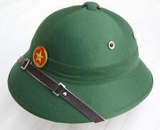 REPRO VIETNAM WAR VIETCONG ARMY PITH HELMET & BADGE