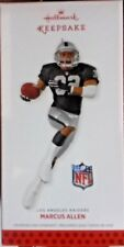 NIB 2013 HALLMARK CHRISTMAS ORNAMENT MARCUS ALLEN NFL LOS ANGELES RAIDERS NEW