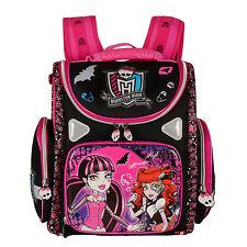 NEW Orthopedic Girls Children School Bags Monster High School Backpack Mochila