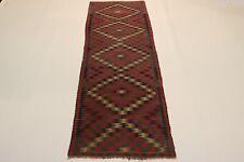 S.Antik Feiner Nomaden Kelim Unikat Perser Teppich Orientteppich 3,44 X 1,00