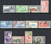 1950 Barbados Sg 271/282 Set of 12 Values Fine Used
