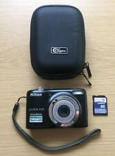 Nikon Coolpix L25 black In Excellent Condition, With 4Gb Memory Card and Case
