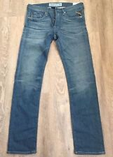 Hommes Replay Jeans tombert 31 X 32 Slim Straight New Authentic