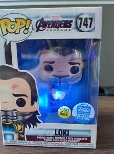 Funko POP! Avengers Endgame 747#Loki with Tesseract Glow Exclusive Vinyl Figures