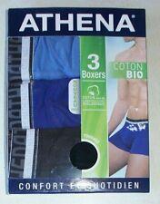 lot de 3 boxers Athena neufs taille 2/S en coton bio