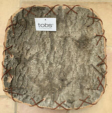 TOBS Birch Square Tray Basket  Brand New Stunning Brand New With Tag Rustic