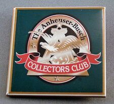 THE ANHEUSER - BUSCH COLLECTORS CLUB PROMOTIONAL PIN PINBACK BUTTON BEER