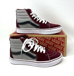 Vans Comfycush SK8-HI Tone Grey Maroon Suede Canvas Sneaker Women's VN0A3WMB2QI