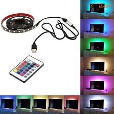 STRISCIA LED USB 2 METRI RGB TELECOMANDO 5V STRIP ADESIVA 3M ADESIVO CASA