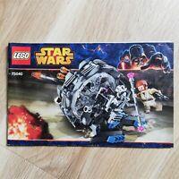 LEGO - BOOKLET ONLY General Grievous' Wheel Bike - Star Wars - 75040
