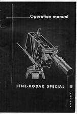 Cine-Kodak Special II Instruction Manual photocopy