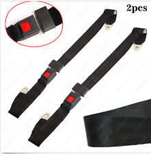 Pair Adjustable Seat Belt Lap Car Truck 2 Point Safety Security Travel Universal
