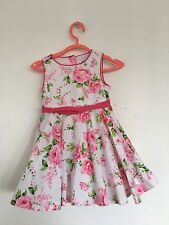 Girls Pretty pink floral netted summer/sundress Dress Age 8 years Maggie & Zoe