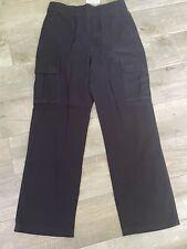 Childrens Place Boys Pants Sz 14 Husky Blue Cargo Uniform Or Dress Up B1