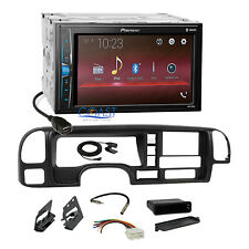 Pioneer 2018 USB Bluetooth 2Din Stereo Dash Kit Harness for 95-02 GM Truck SUV