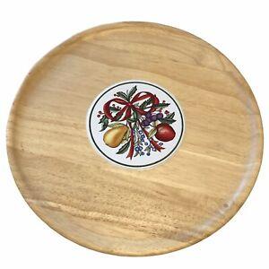 "Dansk 15"" Charcuterie Holiday Harvest Wood Serving Tray Christmas Fruit Platter"