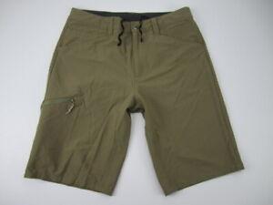 "Mens 34 Patagonia Quandary 12"" Hiking Shorts nylon elastane dark khaki"