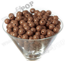 12mm - 50pcs Mocha Brown Gumball Beads Bubble Gum Spacer Small Chunky US Seller